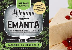 Emäntä-juusto ja sen logo.